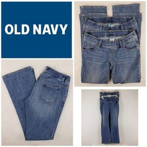 ✨2 PAIR Old Navy Maternity Jeans Underbelly 4 Long